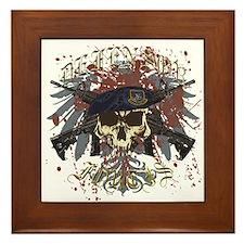 Security Forces Skull Urban I Framed Tile