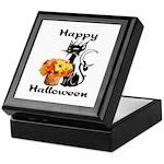 Halloween Black Cat Keepsake Box