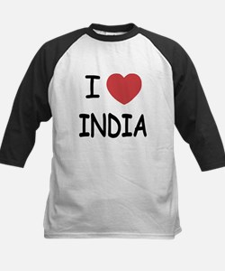 I heart India Kids Baseball Jersey