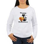 Halloween Black Cat Women's Long Sleeve T-Shirt