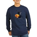 Halloween Black Cat Long Sleeve Dark T-Shirt