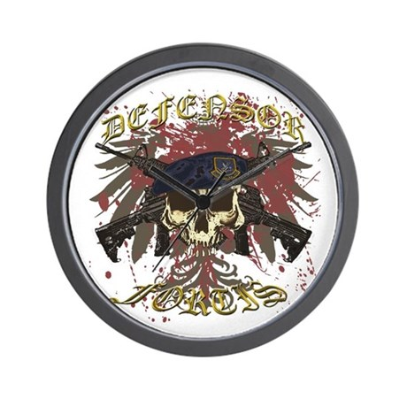 Security Forces Skull Rifles Wall Clock