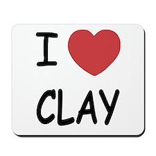 I heart clay Mousepad