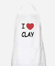 I heart clay Apron