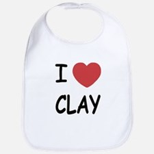 I heart clay Bib