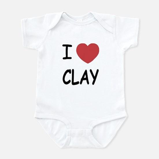 I heart clay Infant Bodysuit