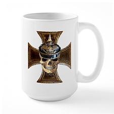 Prussian skull w iron cross Mugs