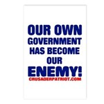 OUR OWN GOVERNMENT HAS BECOME OUR ENEMY! Postcards