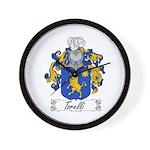 Torelli Coat of Arms Wall Clock