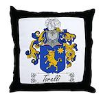 Torelli Coat of Arms Throw Pillow