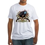 MP Skull Pistols Urban Color Fitted T-Shirt