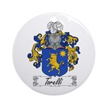 Torelli Coat of Arms Ornament (Round)