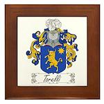 Torelli Coat of Arms Framed Tile