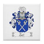 Tonti Coat of Arms Tile Coaster