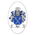 Tonti Coat of Arms Oval Sticker