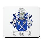 Tonti Coat of Arms Mousepad