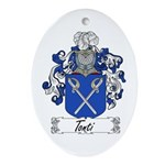 Tonti Coat of Arms Oval Ornament
