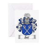 Tonti Coat of Arms Greeting Cards (Pk of 10)