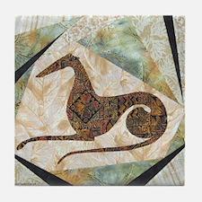 Tribal Greyhound Tile Coaster