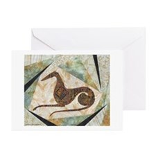 Tribal Greyhound Greeting Cards (Pk of 20)