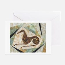 Tribal Greyhound Greeting Cards (Pk of 10)