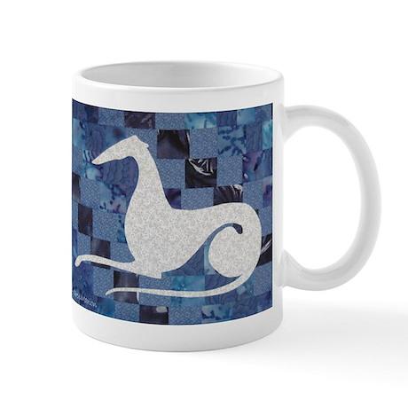White on Blue Mug