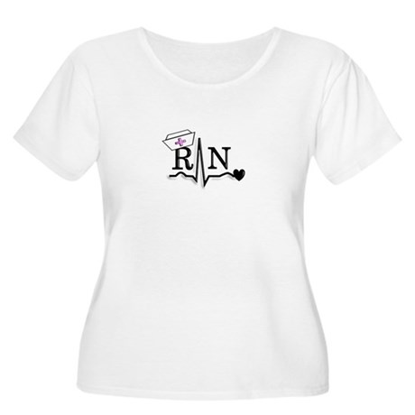 oncology RN Plus Size T-Shirt