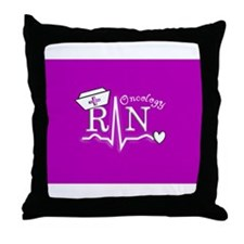 Unique Registered nurse oncology Throw Pillow