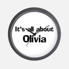 It's all about Olivia Wall Clock