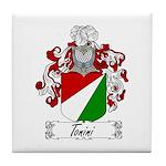 Tonini Coat of Arms Tile Coaster