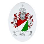 Tonini Coat of Arms Oval Ornament