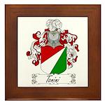 Tonini Coat of Arms Framed Tile