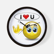 I Love You - Sign Language Wall Clock