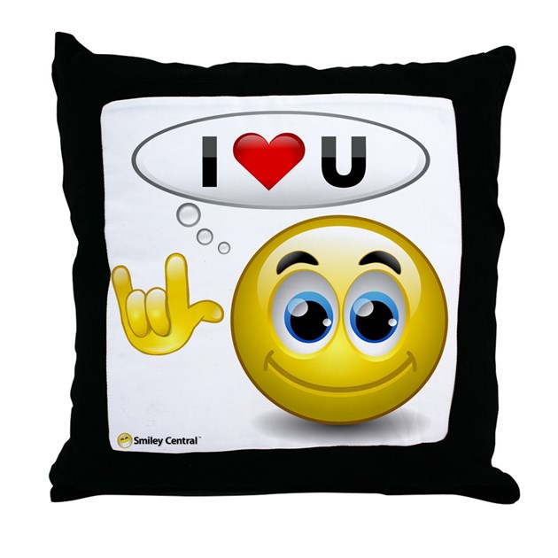 I Love You Sign Language Throw Pillow By Smileycentral