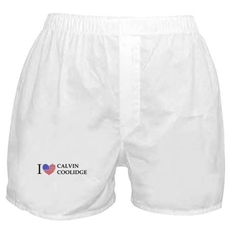 I Love Calvin Coolidge Boxer Shorts
