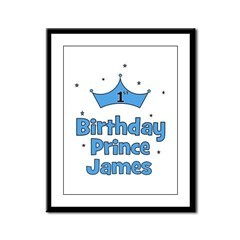 1st Birthday Prince JAMES! Framed Panel Print