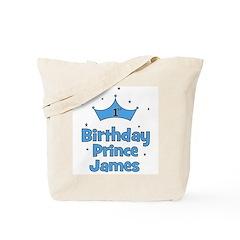 1st Birthday Prince JAMES! Tote Bag