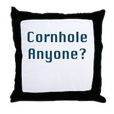 Cornhole Anyone? Throw Pillow