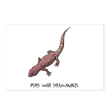 Plays With Salamanders Postcards (Package of 8)