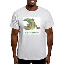 Plays With Iguanas Ash Grey T-Shirt