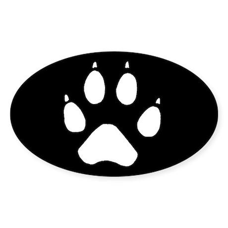 Wolf Track Sticker (Oval)