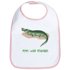 Plays With Alligators Bib