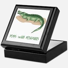 Plays With Alligators Keepsake Box