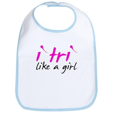 i tri like a girl Bib