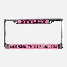 Fabulous Stylist License Plate Frame Gift
