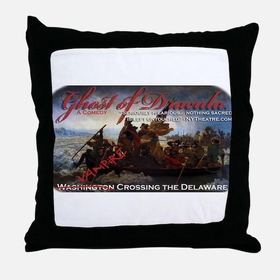 Vampire Crossing the Delaware Throw Pillow