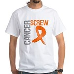 Screw Cancer White T-Shirt