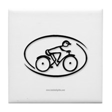 The Cyclist... Tile Coaster