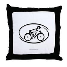 The Cyclist... Throw Pillow