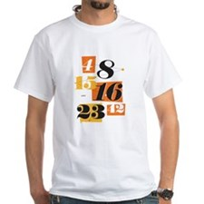 The Numbers White T-Shirt